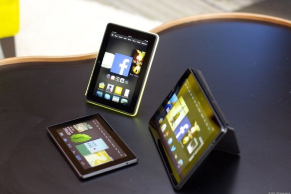 Die neuen Kindle-Fire-Tablets von Amazon (Bild: David Carnoy/CNET)