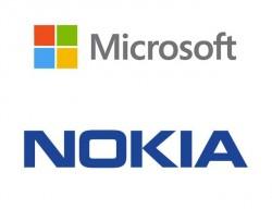Logos von Microsoft und Nokia