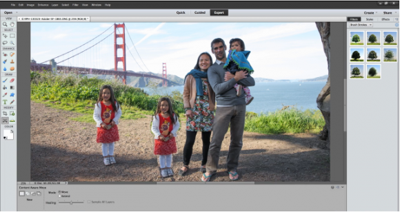 Objekte oder Personen in Fotos lassen sich nun einfach verschieben (Bild: Adobe).