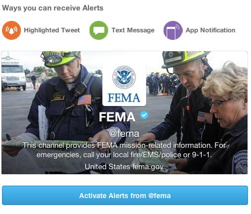 Hilfs- und Regierungsorganisationen wie die FEMA übermitteln künftig Notfall-Nachrichten über Twitter (Bild: FEMA).