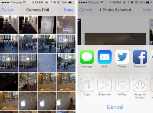 ZDNet USA hat den Fehler in der Bildschirmsperre von iOS bestätigt. Unbefugte erhalten so Zugriff auf gespeicherte Fotos (Screenshot: ZDNet.com).