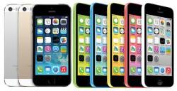 iPhone 5S und 5C in allen verfügbaren Farben (Bilder: Apple)