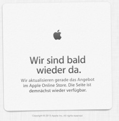 Der Apple-Store nimmt eine Auszeit - steht ein Launch an?