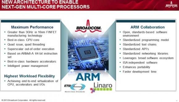 Geplante NFV-SoCs von ARM und Broadcom (Folie: Broadcom)