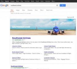 Seitenbreite Suchwerbung bei Google (Bild: Synrgy)