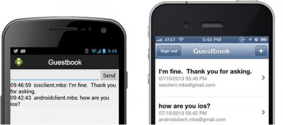 Über Googles Mobile Backend Starter können Entwickler Messaging zwischen Android und iOS realisieren (Bild: Google).