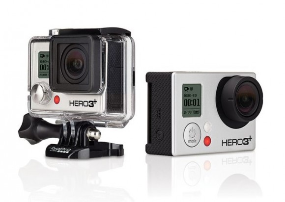 Die Action-Cams GoPro Hero3+ Black & Silver Edition kommen mit einem kompakteren und leichteren Gehäuse, schnellerem WLAN und neuen Aufnahmemodi. Die Black Edition bietet zudem eine verbesserte Akkulaufzeit (Bild: GoPro).