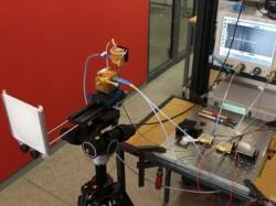 Bei ihrem Laborversuch haben die Forscher einen Weltrekord für Funkübertragung aufgestellt  (Bild: KIT).