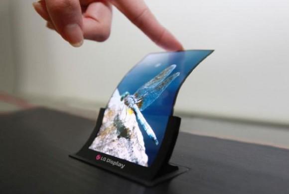 Biegbares Smartphone-Display von LG