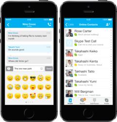 Skype 4.13 für iPhone und iPad liefert ein aufgefrischtes Design für iOS 7 (Bild: Microsoft).