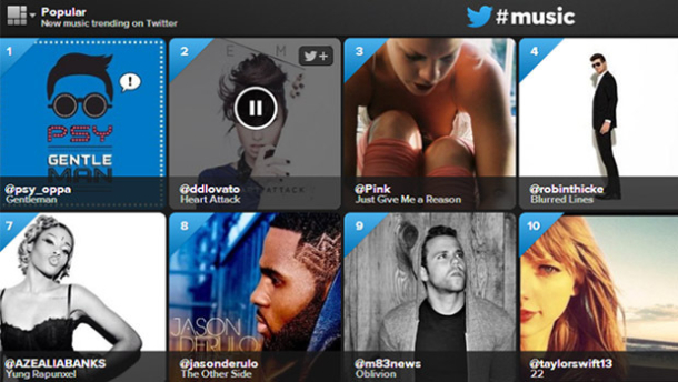 Twitter Music (Screenshot: News.com)
