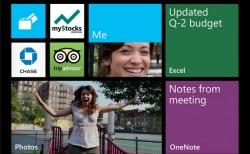 Startbildschirm von Windows Phone 8 Update 3 mit bis zu sechs Kacheln nebeneinander (Bild: Microsoft)