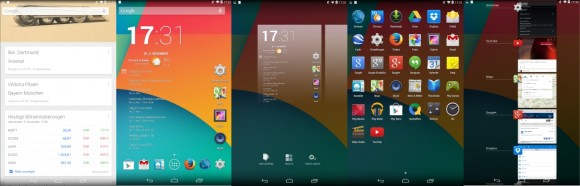 Android 4.4 Kitkat: Launcher, Homescreen, Google Now, Drawer, Multitasking