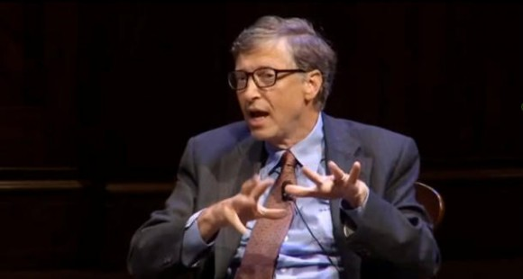 Bill Gates an der Harvard University, September 2013 (Bild: News.com)