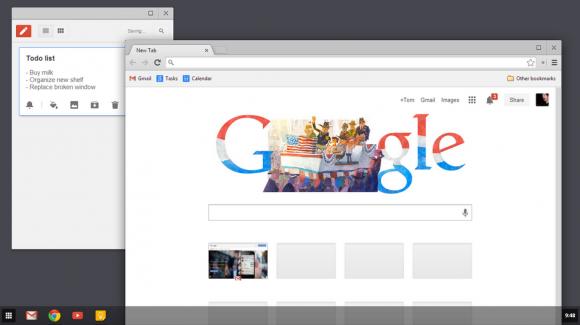 Chrome 32 Beta nutzt für den Touch-Modus von Windows 8 jetzt die Oberfläche von Chrome OS (Bild: Google).
