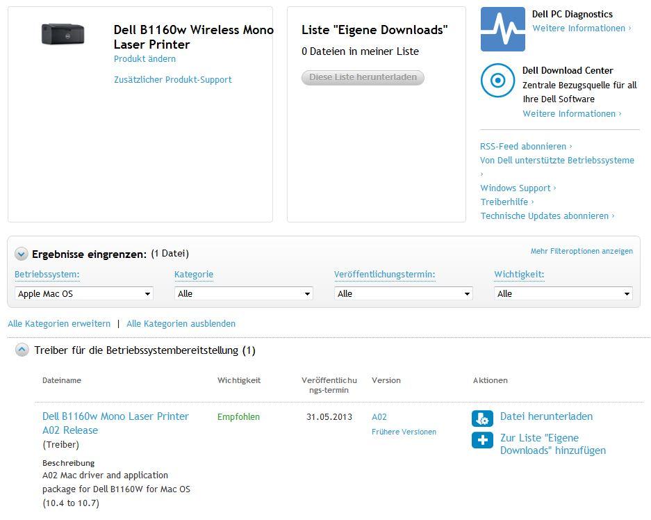 Dell b1160w windows 10