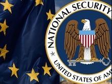 EU-Flagge und NSA-Logo