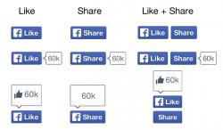 Neue facebook-Buttons (Bild: Facebook)
