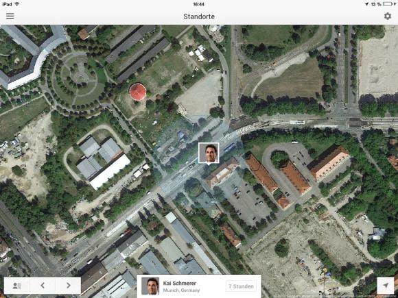 Google+ erlaubt Standortfreigabe unter iOS