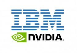 Logos von IBM und Nvidia