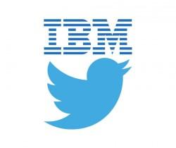 Logos von IBM und Twitter