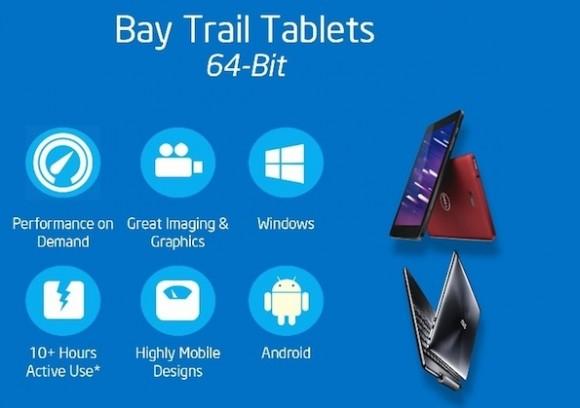 Intel will Windows- und Android-Tablets künftig mit einem 64-Bit-Atom-Chip betreiben (Bild: Intel).