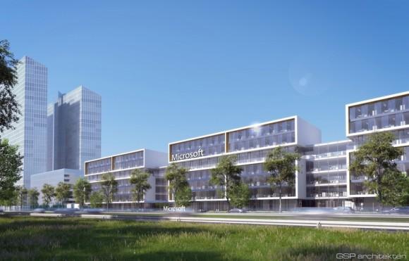 So soll die neue Zentrale von Microsoft Deutschland in München-Schwabing aussehen (Bild: Microsoft).