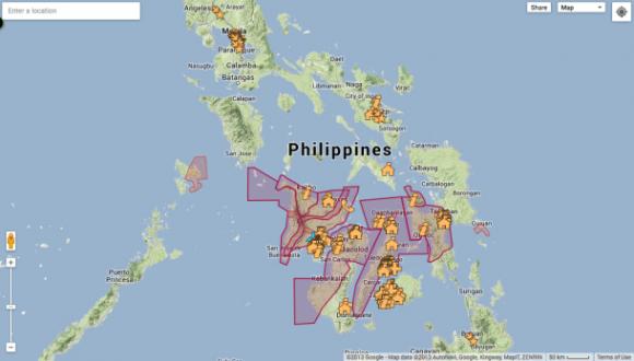 Eine Karte gibt Auskunft über Evakuierungszentren, Unterkünfte, Krankenhäuser und mehr (Screenshot: Dara Kerr).