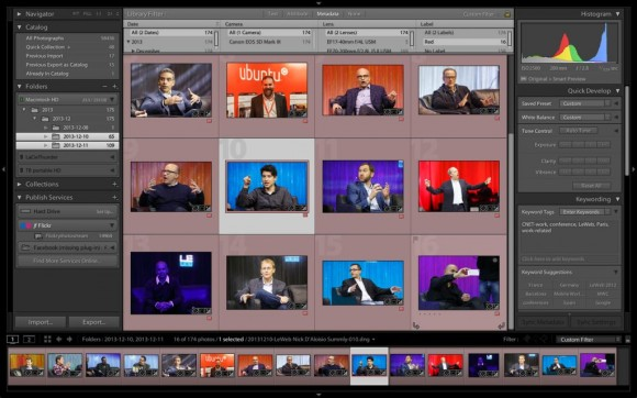 Adobe Lightroom (Screenshot: Stephen Shankland/CNET)