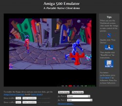 Demo im Amiga-Emulator für Chrome (Screenshot: ZDNet)