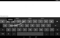 """Die englische Android-Tastatur erkennt """"tablets"""", aber nicht """"lovemaking"""" (Screenshot: Google)."""