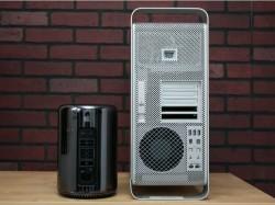 Der neue Mac Pro (links) hat mit dem alten praktisch nichts mehr gemein (Bild: CNET).