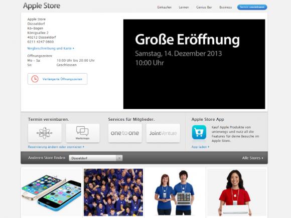Die Filiale im Düsseldorfer Kö-Bogen ist Apples 13. Store in Deutschland (Screenshot: ZDNet.de).