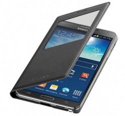 Ein neues Cover fürs Galaxy Note 3 bringt die Möglichkeit des drahtlosen Aufladens nach dem Qi-Standard mit (Bild: Samsung).