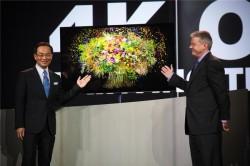 Panasonic stellt 4K-Fernseher vor (Bild: Panasonic).