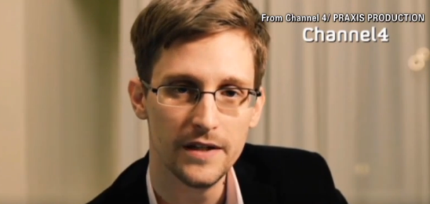 Edward Snowden auf Channel 4 (Screenshot: News.com]