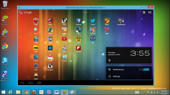 AMD und BlueStacks bilden ein vollständiges Android  auf dem Windows-Desktop ab (Bild: AMD)