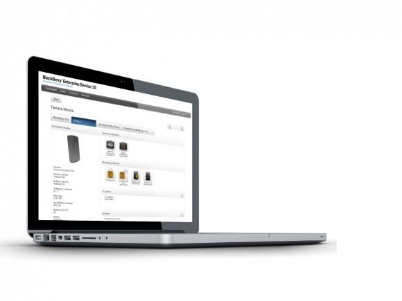 Verwaltet werden die Devices über das Webinterface des Blackberry Enterprise Service.