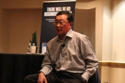Blackberry-CEO John Chen beim Pressegespräch während der CES (Bild: Roger Cheng / CNET)