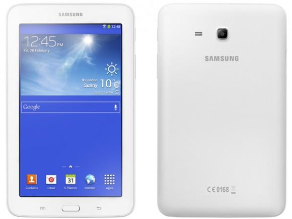Das Galaxy Tab 3 Lite bietet bis auf die fehlende Front-Webcam und den schwächeren Akku nahezu dieselbe Ausstattung wie die Standardversion (Bild: Samsung).