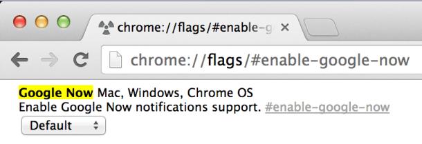 Google Now in Chrome canary aktivieren (Screenshot: News.com)