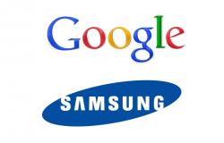 Logos von Google und Samsung