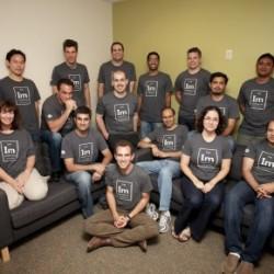 Das Team von Impermium, mit CEO und Gründer Mark Risher in der Mitte vorn (Bild: Impermium via Archive.org)