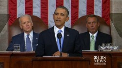 US-Präsident Barack Obama hält seine 5. Rede zur Lage der Nation (Bild: CBS)