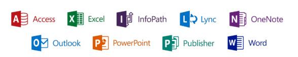Alle Komponenten von Office 365 ProPlus (Bild: Microsoft)