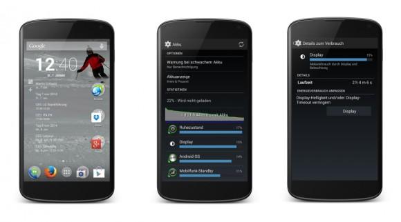 OmniROM: Batterielaufzeit