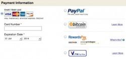 Bezahlen mit Bitcoin bei Ovestock.com (Screenshot: ZDNet)