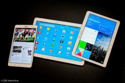 Drei Varianten des Samsung-Tablets TabPRO mit 8,4-, 10,1- und 12,2-Zoll-Display (Bild: CNET.com)