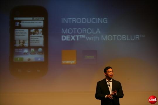 Sanjay Jha im Einsatz als Motorola-CEO 2009 (Bild: News.com)
