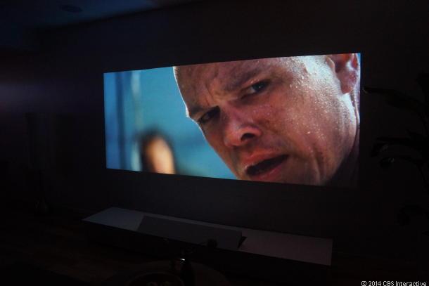 Sonys 4K Short Throw Projector im Einsatz (Bild: News.com)